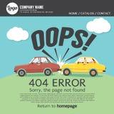 Pagina gevonden niet fout 404 Royalty-vrije Illustratie