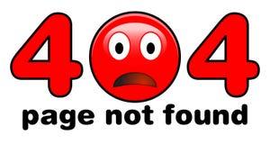 404 pagina gevonden niet illustratie Rood droevig emojigezicht in plaats van n stock illustratie