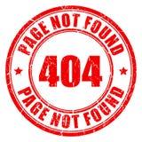 404 pagina gevonden niet zegel Royalty-vrije Stock Foto's