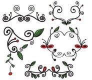 Pagina l'insieme divertente floreale Immagini Stock