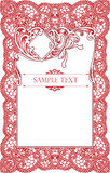 Pagina lace-like Immagine Stock