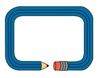 Pagina - matita illustrazione di stock