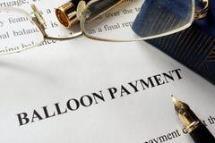 Pagina met de betaling van de titelballon Stock Afbeelding