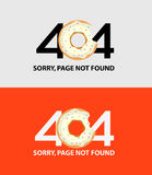 Pagina met een fout 404 royalty-vrije illustratie