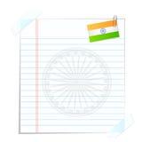 Pagina met Indische Vlag Stock Foto