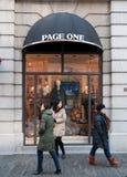 Pagina één winkel bij straat Han Stock Foto