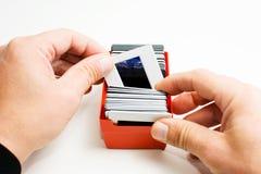 Pagina nella mano Fotografie Stock