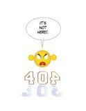 pagina 404 non trovata Fotografie Stock Libere da Diritti