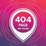 404 pagina non trovata, modello d'avanguardia Fotografie Stock
