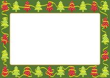 Pagina o cartolina d'auguri per natale Immagini Stock