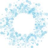 Pagina o confine dei fiocchi di neve casuali dello spargimento Immagine Stock