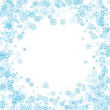 Pagina o confine dei fiocchi di neve casuali dello spargimento Fotografia Stock