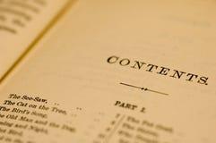 Pagina in oud boek royalty-vrije stock fotografie