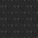 pagina ovale Diamond Check Gem dell'incrocio della curva di arte di carta scura 3D Fotografie Stock Libere da Diritti