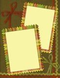 Pagina per due foto Immagine Stock