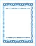 Pagina per i colori del blu del ricamo del punto croce Fotografia Stock Libera da Diritti