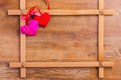 Pagina per le congratulazioni il giorno del ` s del biglietto di S. Valentino Fotografia Stock Libera da Diritti