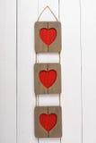 Pagina per una forma della foto di cuore St Giorno di biglietti di S Immagini Stock Libere da Diritti