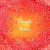 Pagina quadrata Rosso-arancio luminosa Fotografie Stock Libere da Diritti