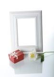 Pagina, regalo ed orchidea Immagini Stock