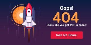 404-pagina-ruimte-pendel exemplaar Royalty-vrije Illustratie