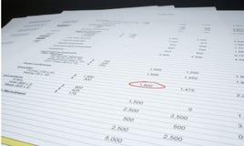 Pagina's van cijfers Royalty-vrije Stock Afbeeldingen