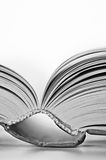 Pagina's van een boek stock afbeeldingen