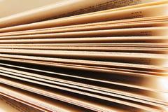 Pagina's van het boek Sluit omhoog stock afbeelding