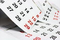 Pagina's van Kalender Royalty-vrije Stock Fotografie