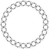 Pagina sotto forma di cerchio degli elementi decorativi nel nero Fotografia Stock