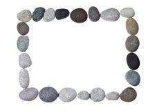 Pagina su una priorità bassa bianca con le pietre Fotografie Stock