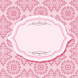 Pagina sui modelli nel rosa pastello Immagini Stock