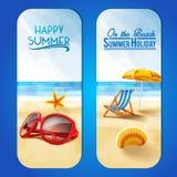 Pagina sulle vacanze estive della spiaggia Fotografia Stock Libera da Diritti