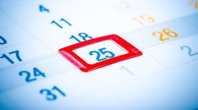 pagina tonificata del calendario Fotografia Stock