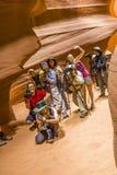 Fucilazione dei fotografi del canyon superiore dell'antilope Immagine Stock Libera da Diritti
