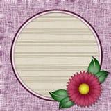 Pagina una foto del fiore. Immagini Stock Libere da Diritti