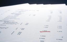 Pagina van cijfers Stock Foto's