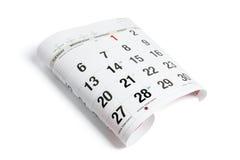 Pagina van Kalender Royalty-vrije Stock Foto's