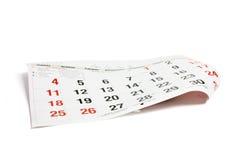 Pagina van Kalender Royalty-vrije Stock Fotografie