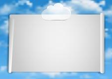 Pagina 8 van 8 Model met de blauwe witte wolken van het hemeleind Royalty-vrije Stock Foto's