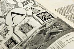Pagina van oud boek royalty-vrije stock afbeelding
