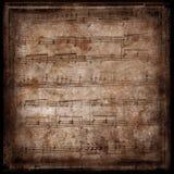 Pagina van oude bladmuziek Royalty-vrije Stock Foto