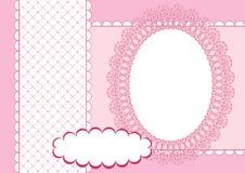 Pagina voor plakboek. Roze. Royalty-vrije Stock Afbeelding
