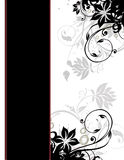 Paginación de cubierta floral elegante del modelo de la frontera de la paginación Imágenes de archivo libres de regalías