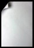 Paginación de papel con el enrollamiento Imagenes de archivo