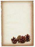 Paginación de papel con los conos decorativos stock de ilustración