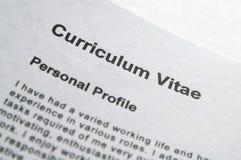 Paginación de título del CV imagen de archivo