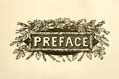 Paginación de título del prefacio Fotografía de archivo