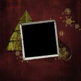 Paginación del álbum de la Navidad de la vendimia Imágenes de archivo libres de regalías
