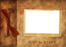 Paginación del álbum de la vendimia de la vendimia Fotografía de archivo libre de regalías